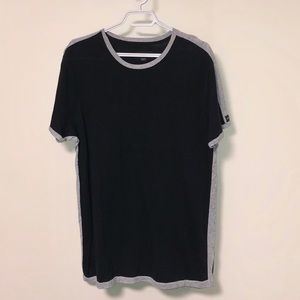 💙 2/30$ Zanerobe Black T-Shirt w/ Grey Trim